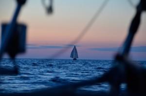 A night at sea.