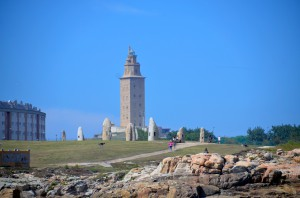 Hercules lighthouse, the only lighthouse from roman times still used today.