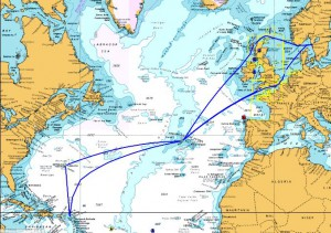 Our posible routes heading home.